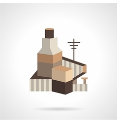 Cereal factory flat icon vector image