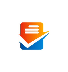 Check list data office business logo vector