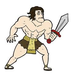 comic cartoon fantasy hero man vector image