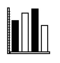 contour statistics graphic bar diagram design vector image