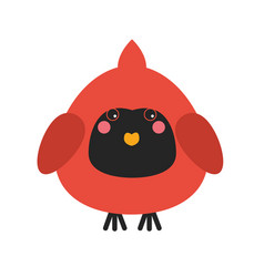 cute cardinal bird icon vector image