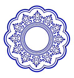 decorative round vector image