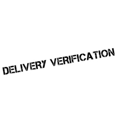 Delivery Verification rubber stamp vector