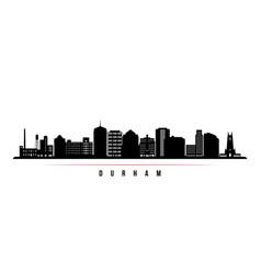 Durham skyline horizontal banner black and white vector