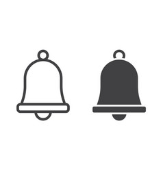 Easter bell line and glyph icon easter vector