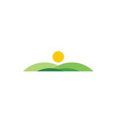 field icon landscape logo design element vector image
