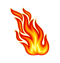 Flame body with bright orange blazing tongues vector