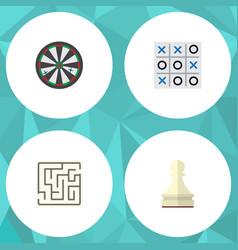 flat icon entertainment set of arrow pawn vector image