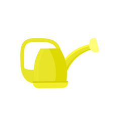 Garden watering can isolated icon vector