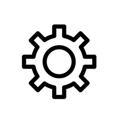 gear line icon flat graphic on isolated background vector image
