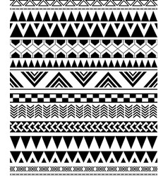 Geometric seamless pattern in native americans vector
