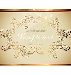 Golden Leaf Frame vector