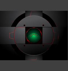 Green lighting push button vector
