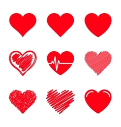 Hearts set vector