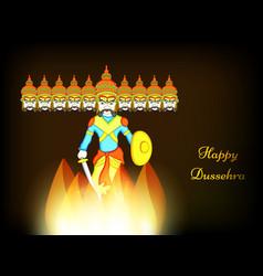Hindu festival dussehra background vector