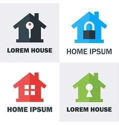 House Logo Design Concepts vector image