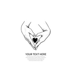 I love you design two hand make love shape vector