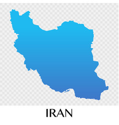 Iran map in asia continent design vector