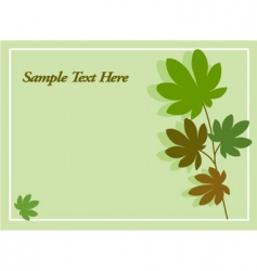 leaves and nature card vector image