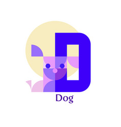 letter d - dog vector image