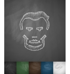 Lincoln icon Hand drawn vector