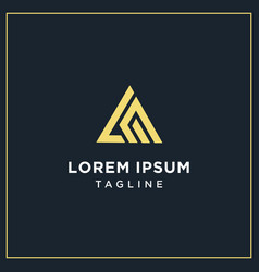 Lm or am triangle logo vector