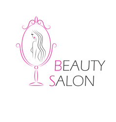 Logo template for beauty salon vector