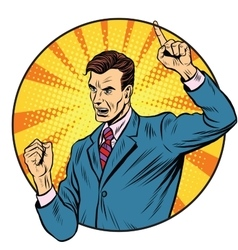 Male speaker politician businessman vector