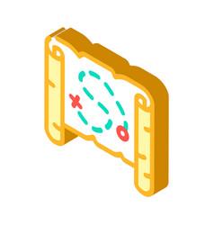 Map treasure isometric icon vector