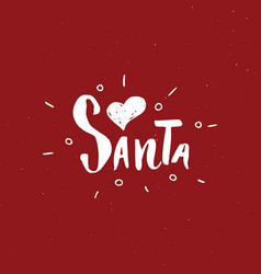 merry christmas calligraphic lettering i love vector image