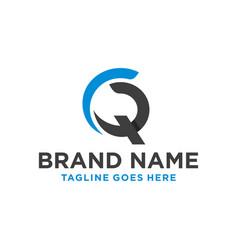 Modern logo letter cq vector