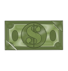 Money bills isolated vector