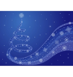 New Year blue composition vector image