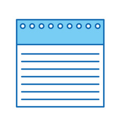 notebook sheet isolated icon vector image vector image