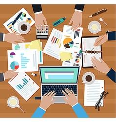 Office men coworking vector image