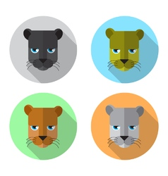 Panther head icon vector
