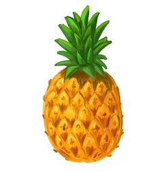 picture of pineapple vector image