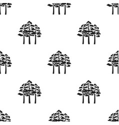 pine icon in black style for web vector image