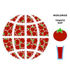 Planet globe composition of tomato vector