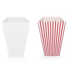 popcorn bags vector image