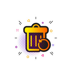Recovery trash bin icon backup data sign restore vector