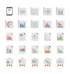 Reports and diagrams icons collection vector