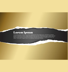 ripped golden paper template vector image