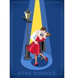 Romantic Love Concept Isometric vector image