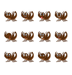 scorpion with different facial expressions vector image