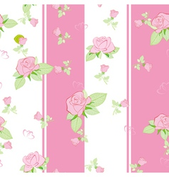 seamless pattern rose vector image