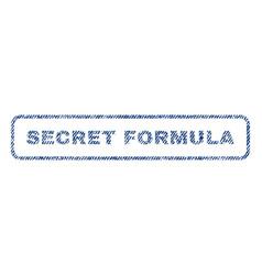 Secret formula textile stamp vector