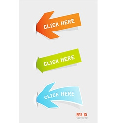 Set of colorful arrows vector
