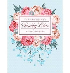 Shabby-chic background vector