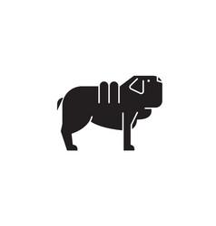 shar pei dog black concept icon shar pei vector image